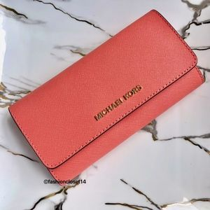 michael kors wallet Grapefruit Pink NWT